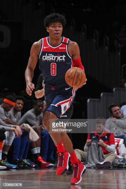 Rui Hachimura of the Washington Wizards handles the ball against the New York Knicks on March 10 2020 at Capital One Arena in Washington DC NOTE TO...