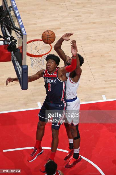 Rui Hachimura of the Washington Wizards shoots the ball against the New York Knicks on March 10 2020 at Capital One Arena in Washington DC NOTE TO...