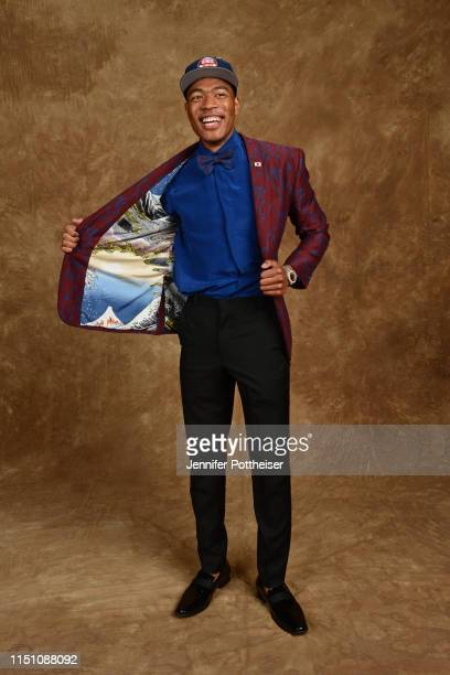 Rui Hachimura poses for a portrait after being drafted by the Washington Wizards at the 2019 NBA Draft on June 20 2019 at Barclays Center in Brooklyn...