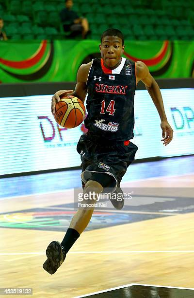 Rui Hachimuru of Japan in action during the FIBA U17 World Championships Group Match between Japan and United States of America at Al Shabab Club on...