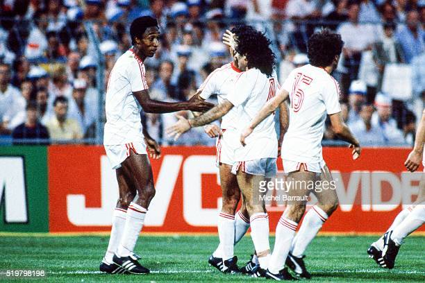 Rui Jordao of Portugal celebrate his goal during the Semi Final Football European Championship between France and Portugal Marseille France on 23...