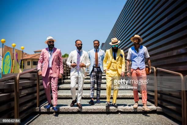 Rui Martins Farid Sadrudin Amilton Estrela Artur Santos and Claudio Sousa are seen during Pitti Immagine Uomo 92 at Fortezza Da Basso on June 13 2017...
