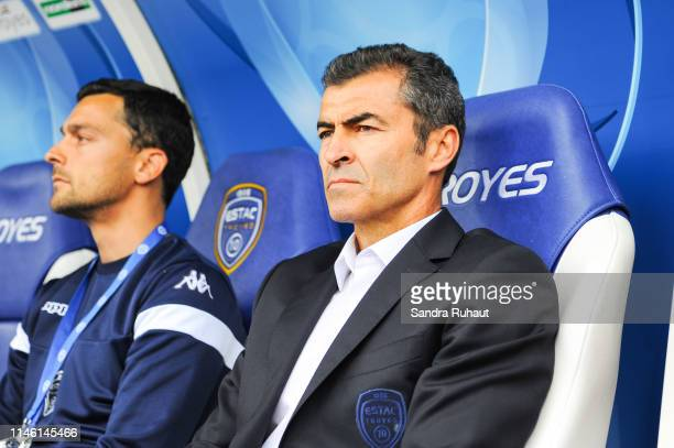 Rui Miguel Garcia Lopes de Almeida head coach of Troyes during the Ligue 2 match between Troyes and Lens on May 24 2019 in Troyes France
