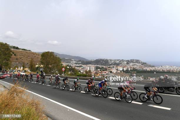 Rui Oliveira of Portugal and UAE Team Emirates, Olivier Le Gac of France and Team Groupama - FDJ, Geoffrey Bouchard of France and AG2R Citröen Team,...