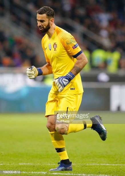 Rui Patrcio during the Nation League match between Italia v Portogallo in Milan Giuseppe Meazza Stadio on November 17 2018