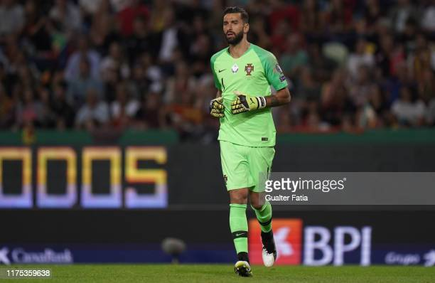 Rui Patricio of Portugal and Wolverhampton in action during the UEFA Euro 2020 Qualifier match between Portugal and Luxembourg at Estadio Jose...
