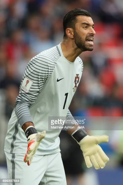 Rui Patricio of Portugal in action during the FIFA Confederations Cup Russia 2017 Group A match between Russia and Portugal at Spartak Stadium on...