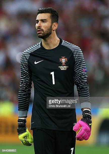 Rui Patricio of Portugal looks on during the UEFA Euro 2016 Quarter Final match between Poland and Portugal at Stade Velodrome on June 30 2016 in...