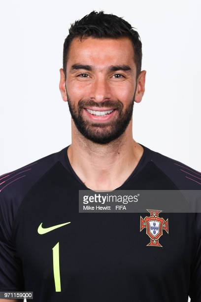 Rui Patricio of Portugal poses for a portrait during the official FIFA World Cup 2018 portrait session on June 10 2018 in Moscow Russia