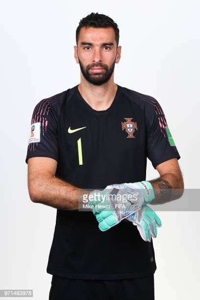 Rui Patricio of Portugal poses for a portrait during the official FIFA World Cup 2018 portrait session at the Saturn training base on June 10 2018 in...