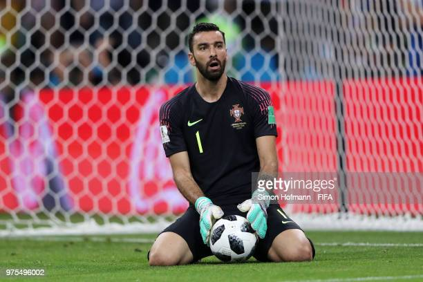 Rui Patricio of Portugal reacts during the 2018 FIFA World Cup Russia group B match between Portugal and Spain at Fisht Stadium on June 15 2018 in...