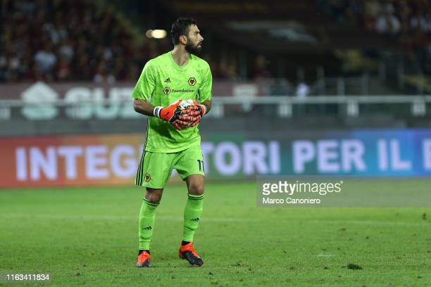 Rui Patricio of Wolverhampton Wanderers Fc in action during the UEFA Europa League playoff first leg football match between Torino Fc and...