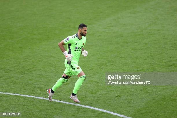 Rui Patricio of Wolverhampton Wanderers in action during the Premier League match between Wolverhampton Wanderers and Manchester United at Molineux...