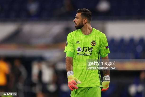 Rui Patricio of Wolverhampton Wanderers in action during the UEFA Europa League Quarter Final between Wolves and Sevilla at MSV Arena on August 11...