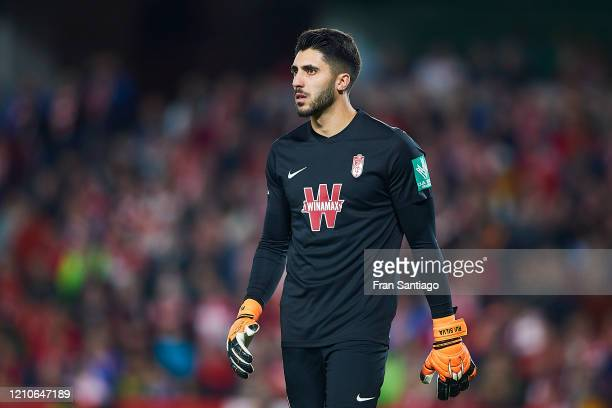 Rui Silva of Granada CF looks on during the Copa del Rey semifinal 2nd leg match between Granada CF and Athletic Club at Estadio Nuevo Los Carmenes...