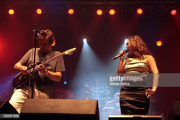 Rui Veloso and Maria Rita performs on Day 2 at Rock In Rio on May 22 2010 in Lisbon Portugal