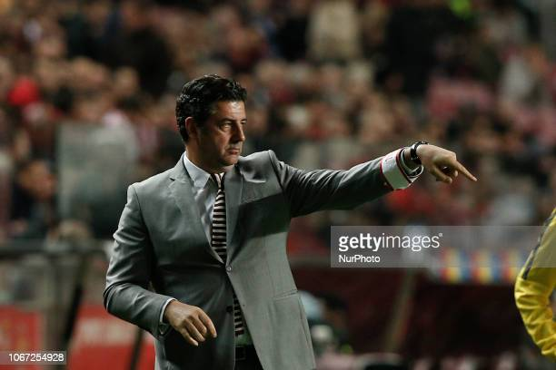 Rui Vitoria of Benfica during the Portuguese League football match between SL Benfica and CD Feirense at Luz Stadium in Lisbon on December 1, 2018.