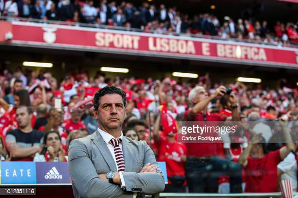 Rui Vitoria of SL Benfica during the match between SL Benfica and Fenerbache SK for UEFA Champions League Qualifier at Estadio da Luz on August 7,...