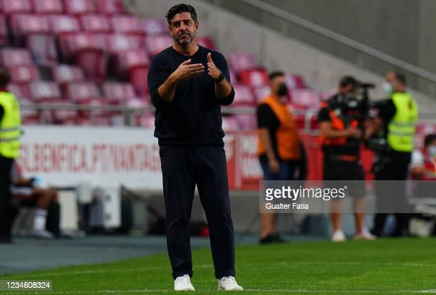 Rui Vitoria of Spartak Moskva in action during the UEFA Champions League Third Qualifying Round Leg Two match between SL Benfica and Spartak Moskva...