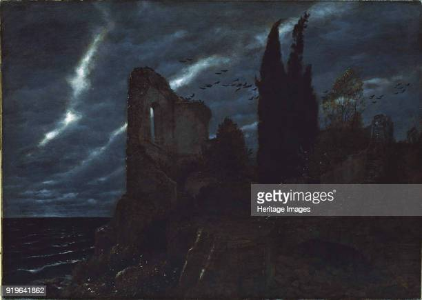 Ruin at the sea 1880 Found in the Collection of Aargauer Kunsthaus Aarau