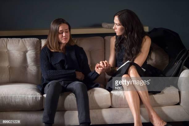 THE BLACKLIST 'Ruin' Episode 509 Pictured Megan Boone as Elizabeth Keen Famke Janssen as Susan 'Scottie' Hargrave