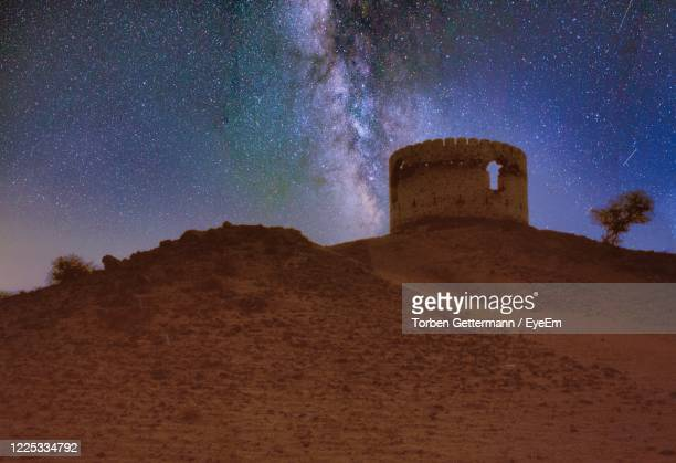 ruin of ottoman fortress in the desert east of jeddah, saudi arabia - jiddah stock pictures, royalty-free photos & images