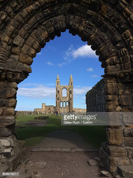 Ruin Of St Andrews Cathedral Against Sky