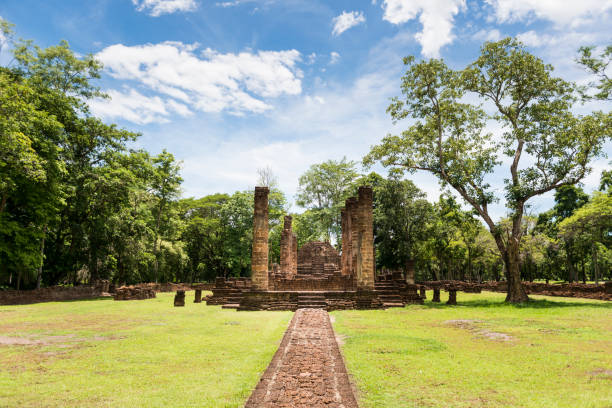 Ruin of Wat Suan Kaeo Uthayan Yai in Si Satchanalai Historical Park