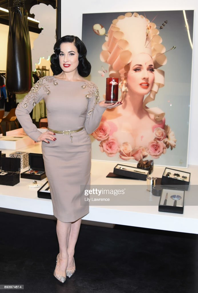 Ruinart Champagne celebrates Dita Von Teese and her scandalous fragrance collaboration with Heretic Parfum at Maxfield on December 16, 2017 in Los Angeles, California.