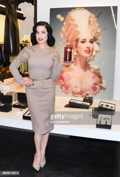 Ruinart Champagne celebrates Dita Von Teese and her scandalous fragrance collaboration with Heretic Parfum at Maxfield on December 16 2017 in Los...