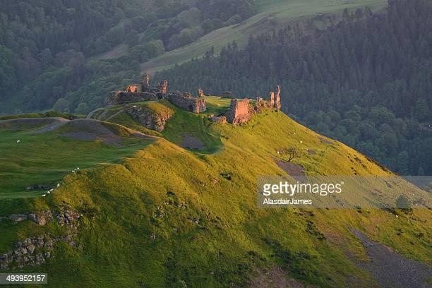 Ruined castle at sundown