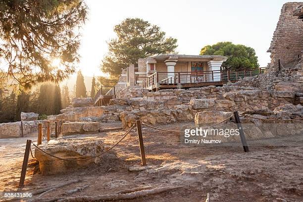 Ruined Palace of Knossos, Island of Crete, Greece, Mediterranean