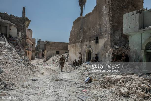 Ruined streets near alNuri mosque complex on June 29 in Mosul Iraq The Iraqi Army Special Operations Forces and CounterTerrorism Services made a new...