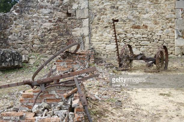 Ruines du village le 16 septembre 2011 OradoursurGlane HauteVienne Limousin Le nom d'OradoursurGlane reste attache au massacre de sa population par...