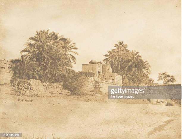 Ruines d'un Arc-de-triomphe Romain, � Philae, April 1850. Artist Maxime du Camp.