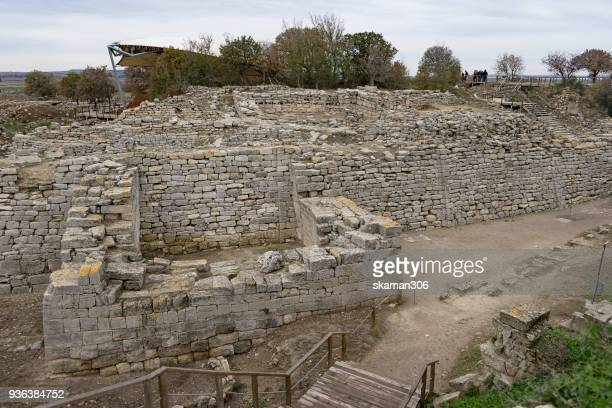 Ruins Ancient City Troi or Troy