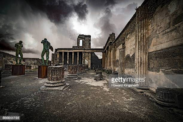 Ruins and sculpture at Pompeii, Italy