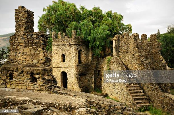 Ruins in the fortified city of Fasil Ghebbi in Gondar, Ethiopia