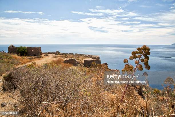 Ruins in the Monemvasia fortress area, Peloponnese, Greece
