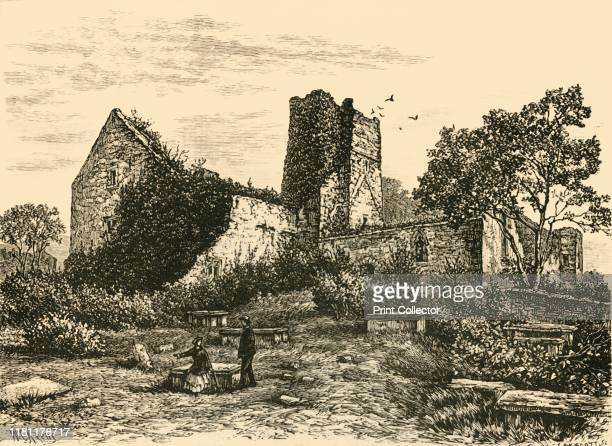 Ruins near Rathmullen' 1898 Ruins of a Carmelite Friary built by Eoghan Rua MacSweeney in 1516 in Rathmullan on the Fanad Peninsula in County Donegal...