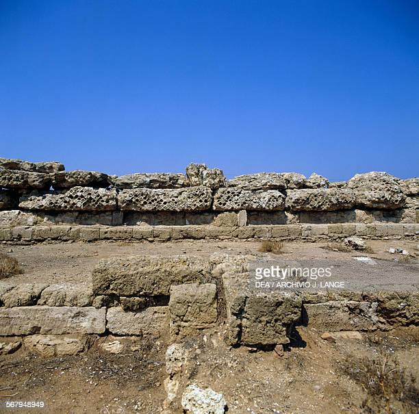 Ruins of a building in the Sanctuary of Hera Lacinia archaeological site of Capo Colonna 6th century BC Crotone Calabria Italy