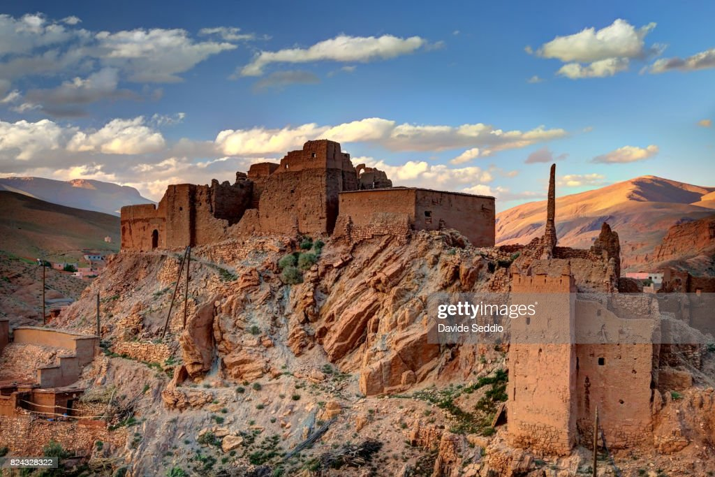 ruins of a casbah in the Dades valley : Stock Photo
