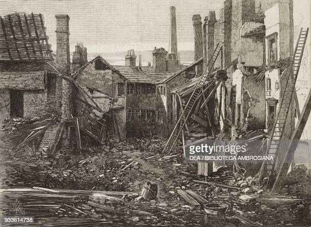 Ruins of a percussion cap manufactory in Graham Street Birmingham after an explosion United Kingdom illustration from the magazine The Illustrated...