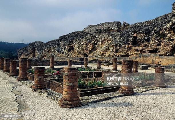 Ruins of a Roman domus with floor mosaics Conimbriga Beira Litoral Portugal Roman civilisation 2nd3rd century
