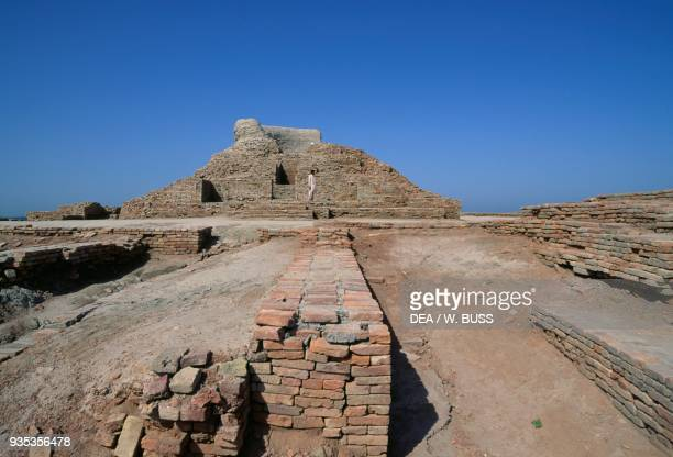 Ruins of a Stupa Moen jo Daro Sindh Pakistan Indus Valley civilisation 2600 bC