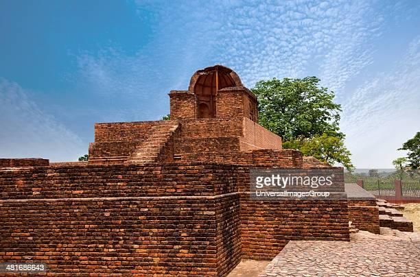Ruins of a temple at an archaeological site Jain Temple Shravasti Uttar Pradesh India