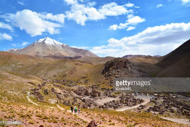 ruins of a village bolivia - altiplano stock pictures, royalty-free photos & images