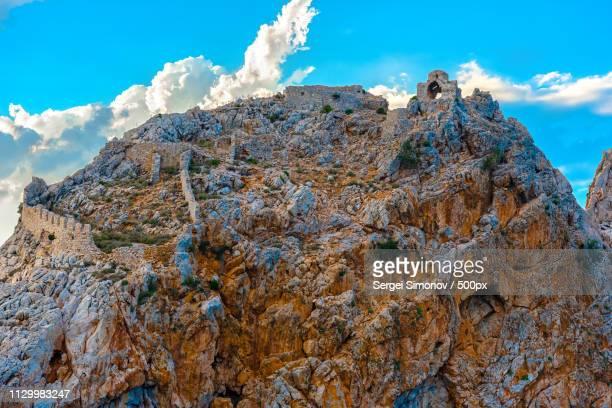 Ruins Of Alanya Castle At Top Of Rock