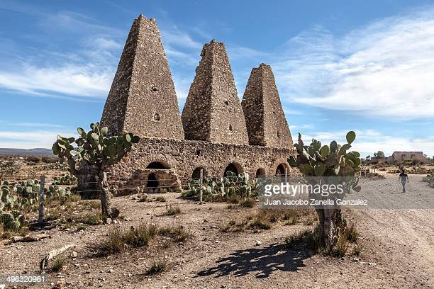 Ruins of an abandoned kiln in a former silver mine near the town of Pozos, Guanauato, Mexico.