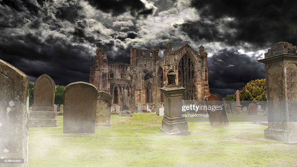 Ruins of an old monastery : Stock Photo
